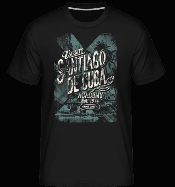 Varsity Santiago De Cuba -  T-Shirt Shirtinator homme - Noir - Vorn