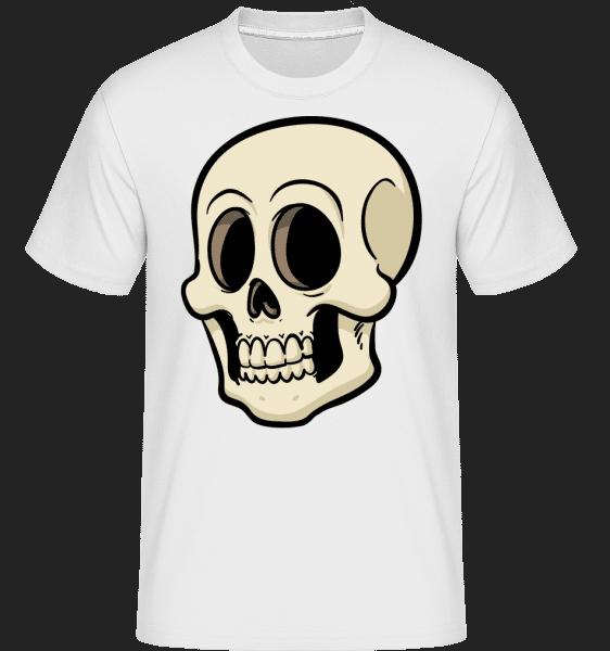 Cartoon Skull -  Shirtinator Men's T-Shirt - White - Vorn