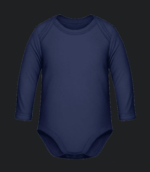 Baby Organic Longsleeve Romper - Navy - Vorn