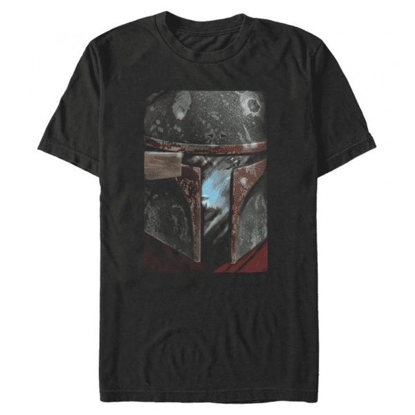MandoMon Epi Warrior The Marshal - Star Wars Mandalorian - Men's T-Shirt - Black - Front