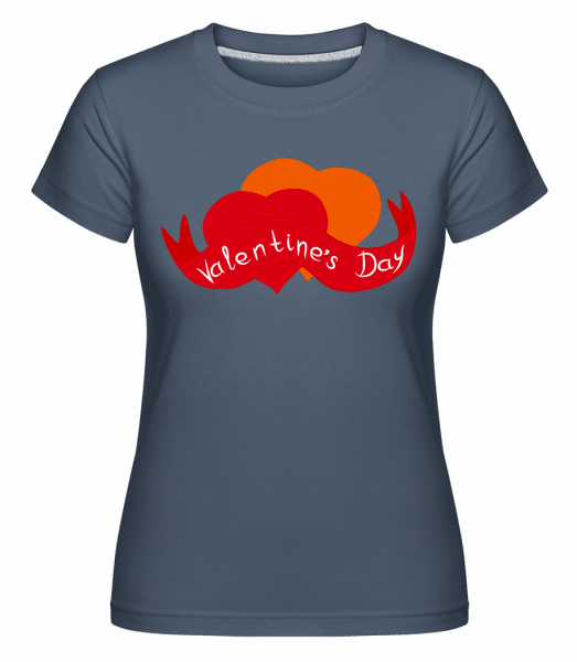 Valentine's Day Logo -  Shirtinator Women's T-Shirt - Denim - Vorn