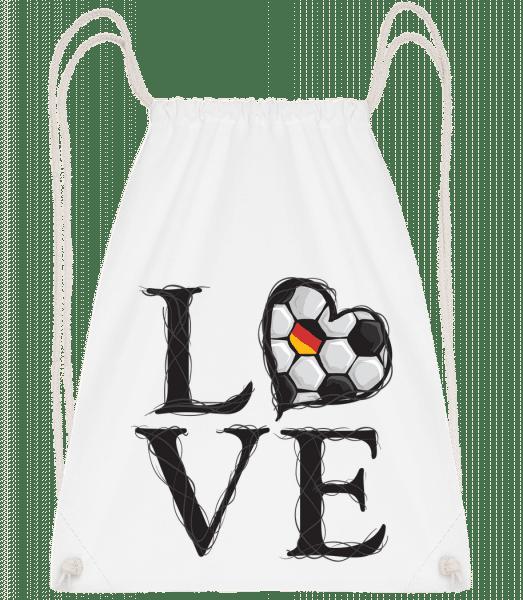 Football Love Germany - Drawstring Backpack - White - Vorn