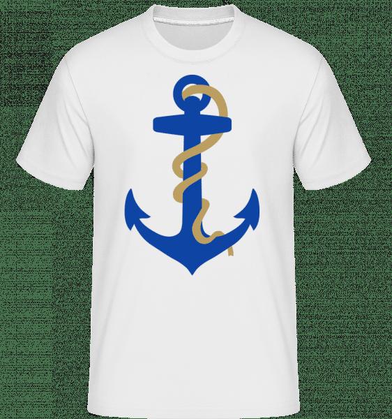 Kotva s lanom -  Shirtinator tričko pre pánov - Biela - Predné