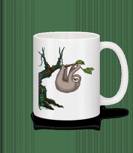Sloth Hanging On A Tree - Mug - White - Vorn