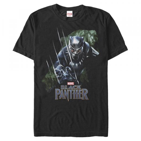 Green Panther Black Panther - Marvel Avengers - Men's T-Shirt - Black - Front