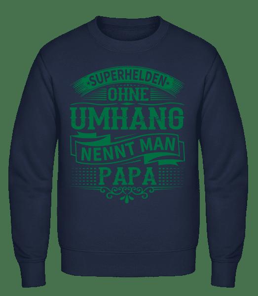 Superhelden Nennt Man Papa - Männer Pullover - Marine - Vorn