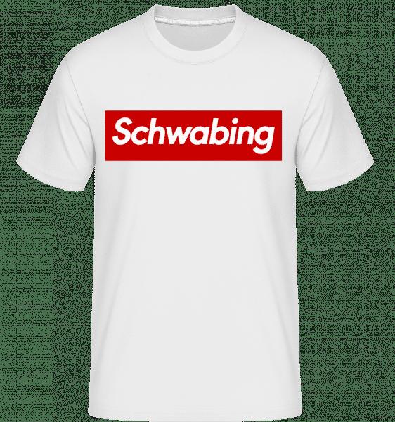 Schwabing - Shirtinator Männer T-Shirt - Weiß - Vorn