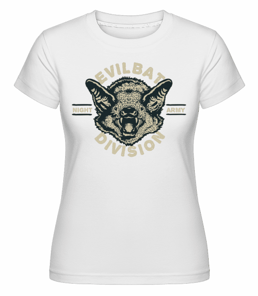 Evil Bat -  Shirtinator Women's T-Shirt - White - Vorn