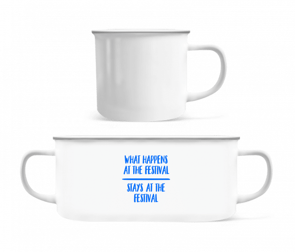 What Happens At The Festival - Enamel-cup - White - Vorn