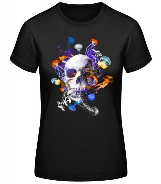 Skull Jellyfish - Women's Basic T-Shirt - Black - Front