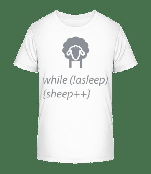 While Not Asleep - Kid's Premium Bio T-Shirt - White - Vorn