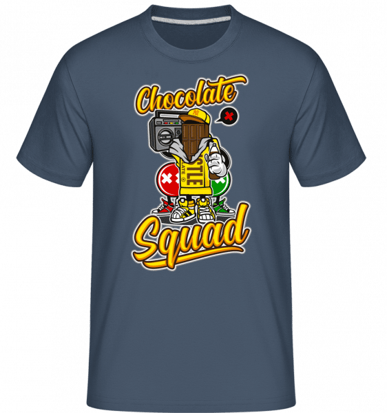 Chocolate Squad -  Shirtinator Men's T-Shirt - Denim - Vorn
