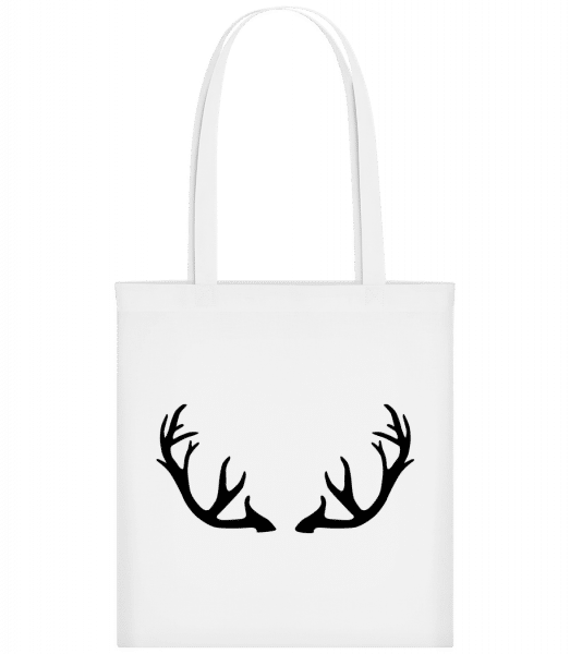 Deer Antlers - Carrier Bag - White - Vorn