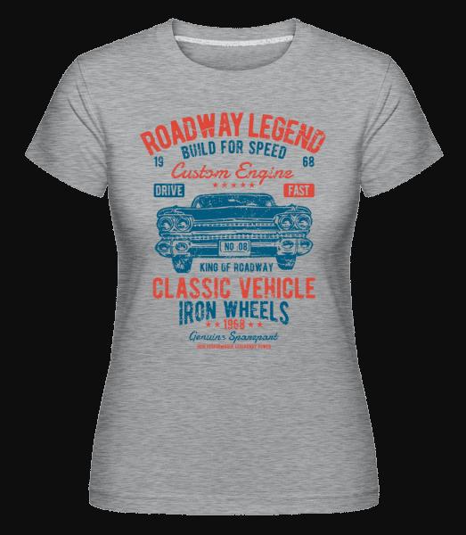 Roadway Legend(1) -  Shirtinator Women's T-Shirt - Heather grey - Vorn