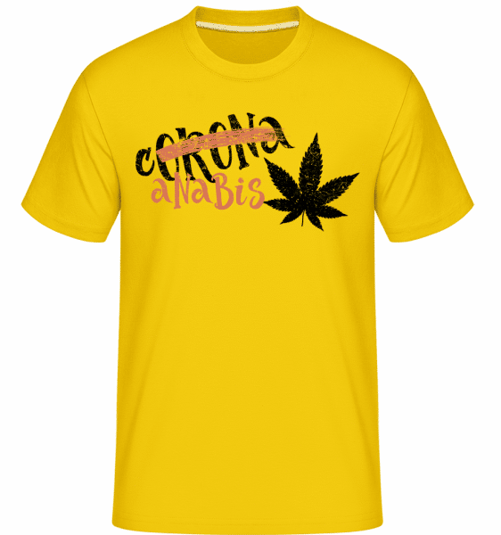 Weed -  Shirtinator Men's T-Shirt - Golden yellow - Front