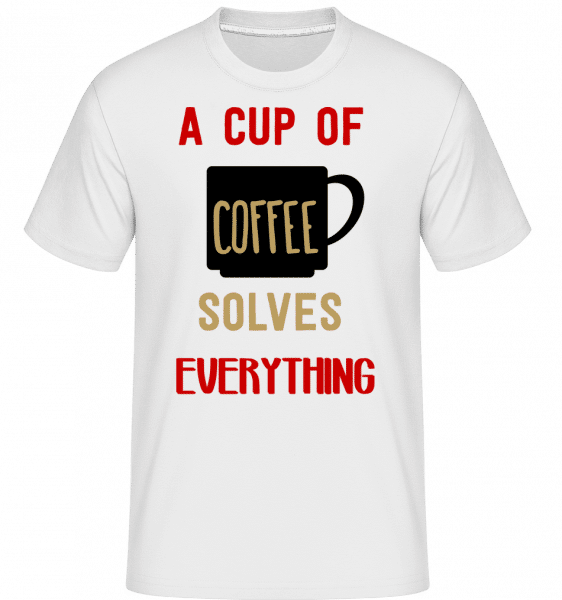 A Cup Of Coffee -  Shirtinator Men's T-Shirt - White - Vorn