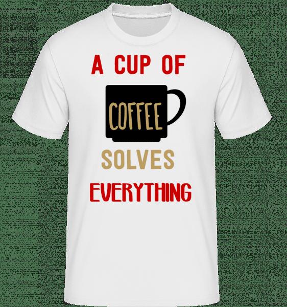 A Cup Of Coffee - Shirtinator Männer T-Shirt - Weiß - Vorn