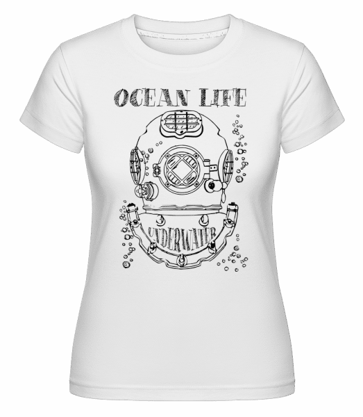 Ocean Life Logo -  Shirtinator Women's T-Shirt - White - Vorn