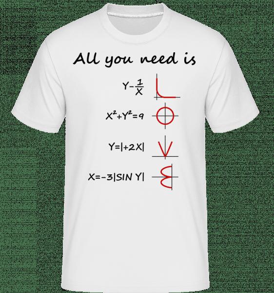 All You Need Is Love - Shirtinator Männer T-Shirt - Weiß - Vorn