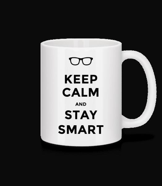Keep Calm And Stay Smart - Tasse - Weiß - Vorn
