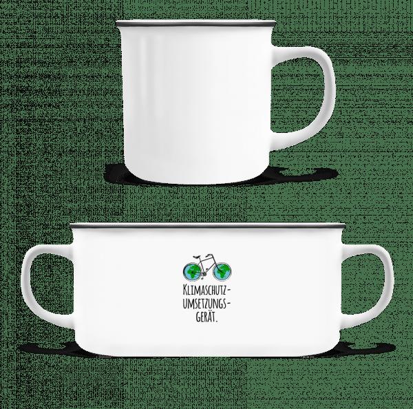 Klimaschutzumsetzungsgerät - Emaille-Tasse - Weiß - Vorn