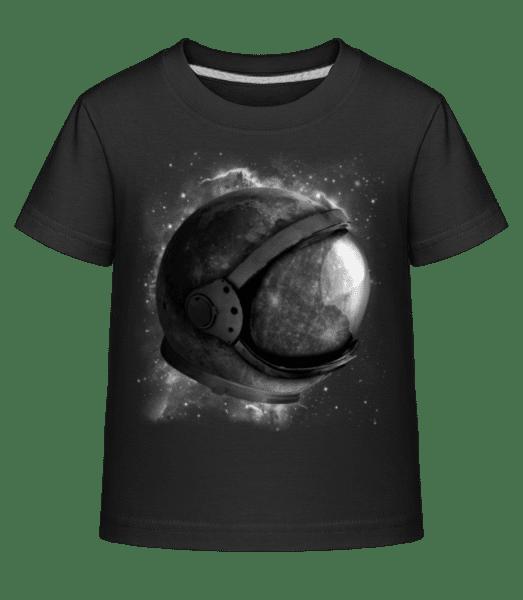 Astronautenhelm - Kinder Shirtinator T-Shirt - Schwarz - Vorn