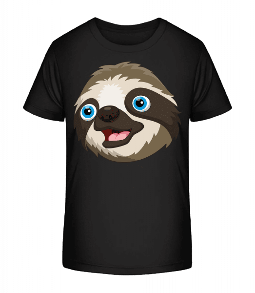 cute Sloth - Detské Premium Bio tričko - Čierna - Predné