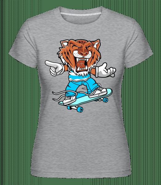 Tiger Skater -  Shirtinator Women's T-Shirt - Heather grey - Vorn
