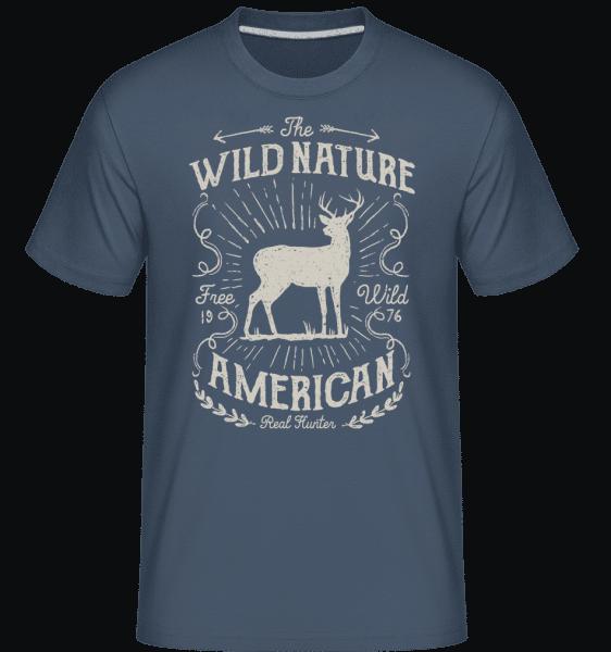 Wild Nature -  Shirtinator Men's T-Shirt - Denim - Vorn