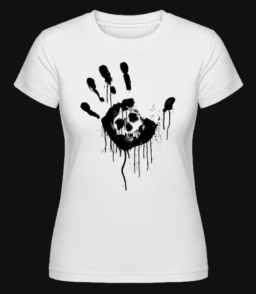 Crâne Main Noire -  Shirtinator Women's T-Shirt - White - Vorn