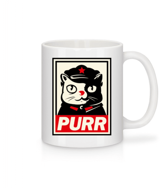 Purr - Mug - White - Front