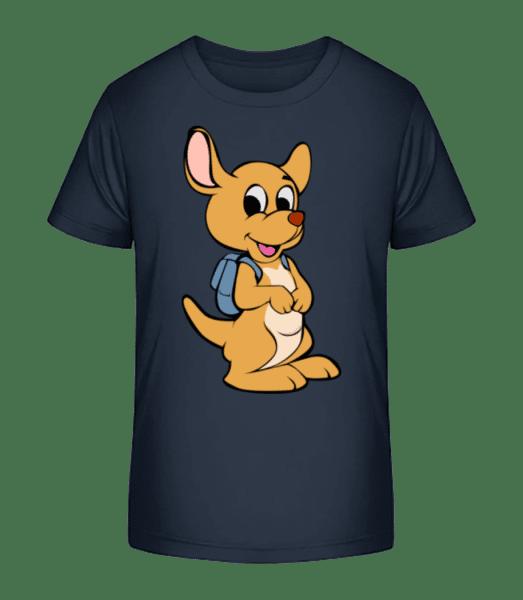 Animal Mignon Avec Sac Á Dos - T-shirt bio Premium Enfant - Bleu marine - Devant