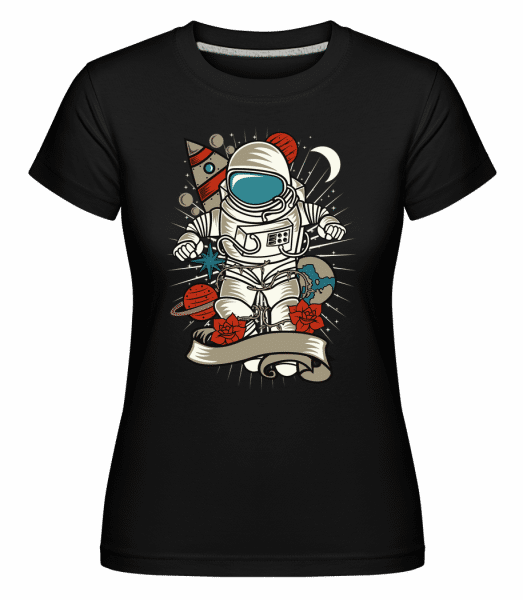 Astronaut 1 -  Shirtinator Women's T-Shirt - Black - Vorn