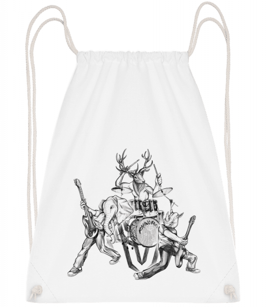 Wild Band - Drawstring Backpack - White - Vorn