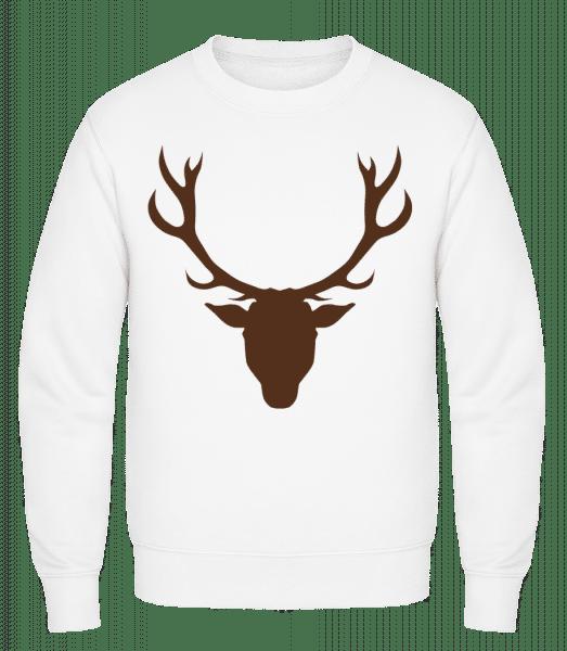 Deer - Brown - Classic Set-In Sweatshirt - White - Vorn