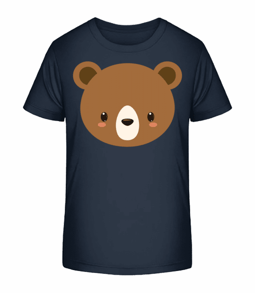 Bär Comic - Kinder Premium Bio T-Shirt - Marine - Vorn