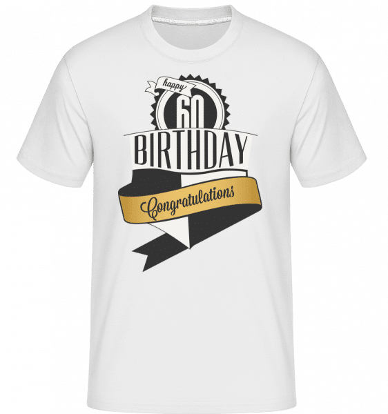 60 Birthday Congrats -  Shirtinator Men's T-Shirt - White - Vorn
