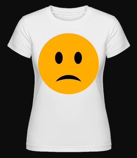 Sad Smiley -  Shirtinator Women's T-Shirt - White - Vorn
