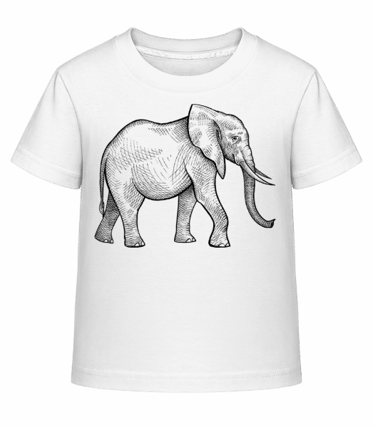Elephant - Kid's Shirtinator T-Shirt - White - Front