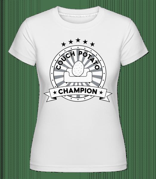 Couch Potato Champion -  Shirtinator Women's T-Shirt - White - Vorn