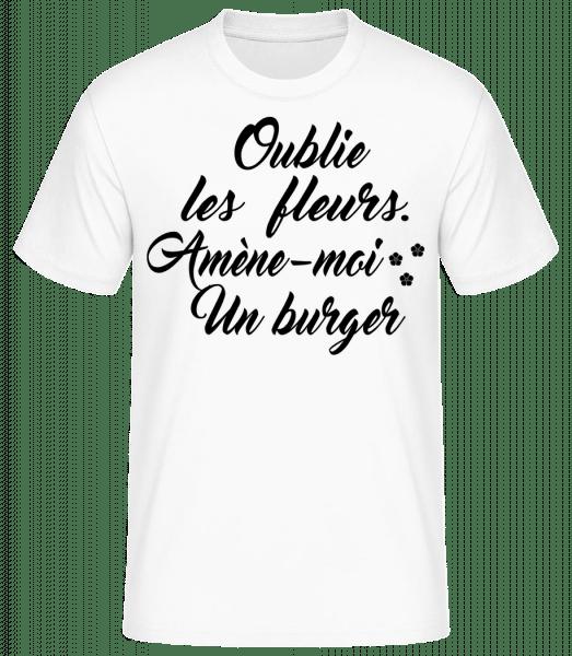 Amène-Moi Un Burger - T-shirt standard Homme - Blanc - Vorn