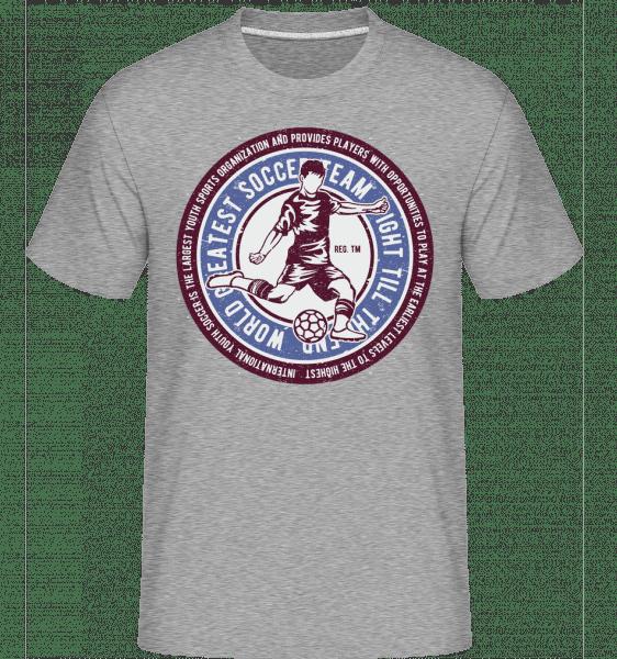 Soccer -  Shirtinator Men's T-Shirt - Heather grey - Front