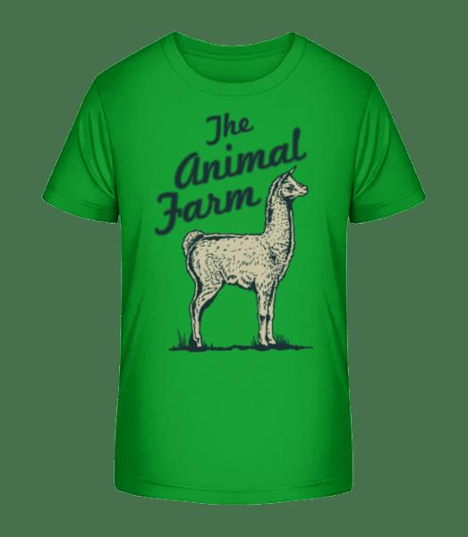 Llama The Animal Farm - Kid's Premium Bio T-Shirt - Green - Vorn