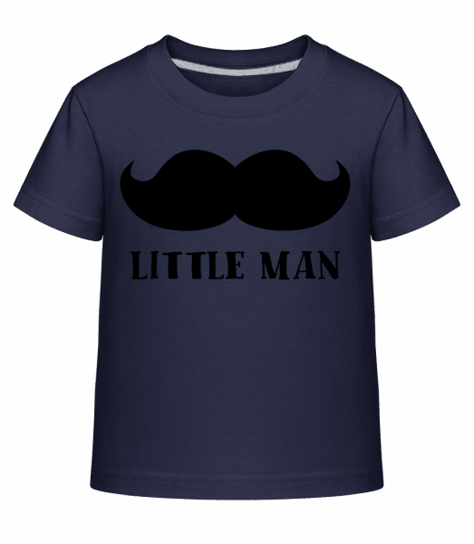 Little Man Mustache - Kid's Shirtinator T-Shirt - Navy - Vorn