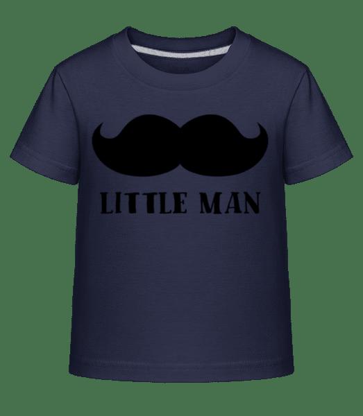 Človíček Knír - Dĕtské Shirtinator tričko - Namořnická modrá - Napřed