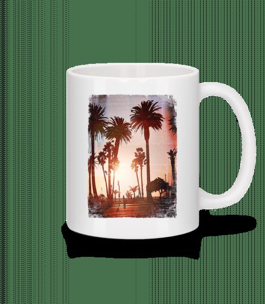 Palm Promenade - Mug - White - Vorn