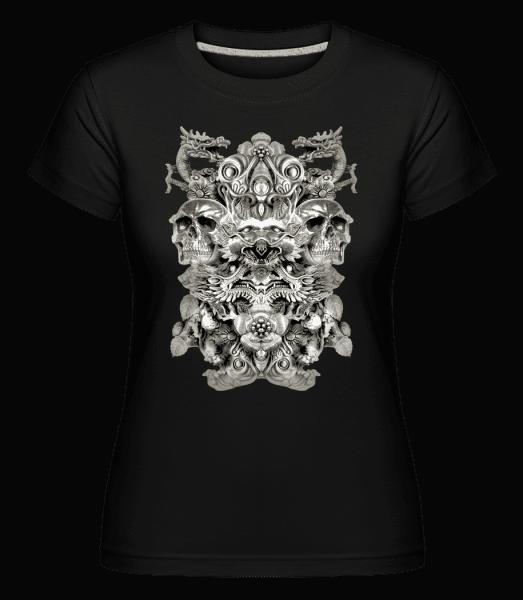 Dragons And Skulls -  Shirtinator Women's T-Shirt - Black - Vorn