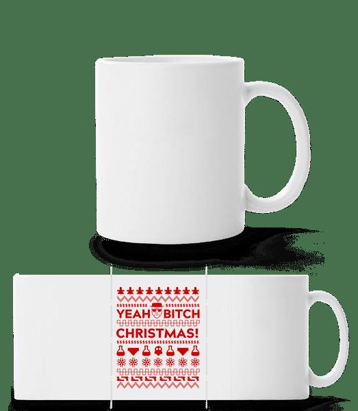 Yeah Bitch Christmas - Panorama Mug - White - Vorn