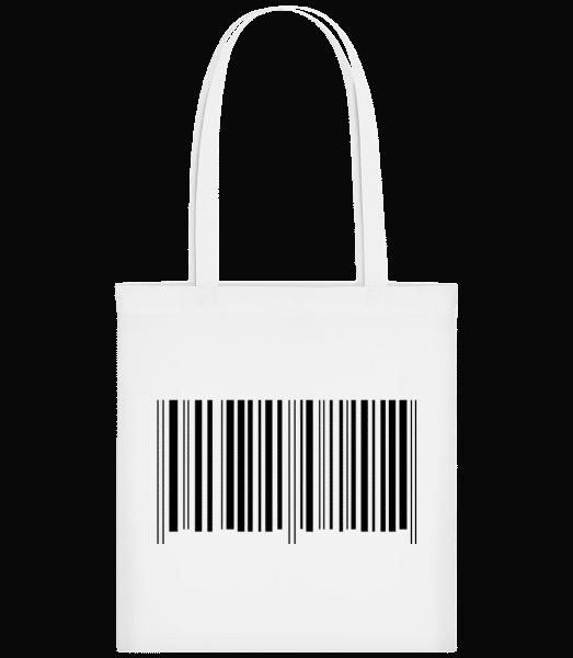 Barcode - Stoffbeutel - Weiß - Vorn