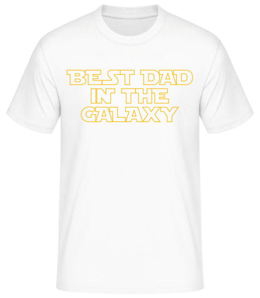 Best Dad In The Galaxy - Basic T-Shirt - Weiß - Vorn